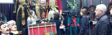 La Casa de la Patum rep la visita de TV3